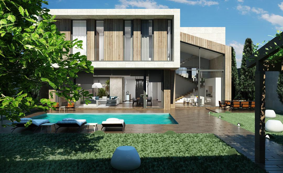 Un'elegante villa privata in un lussuoso quartiere di Baku