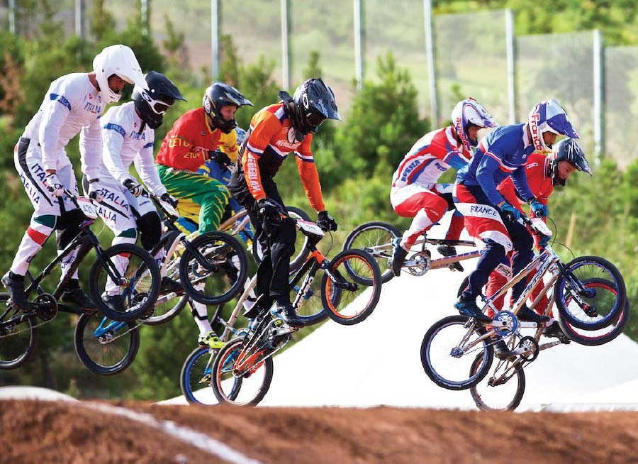 The BMX Racing 2018 in Baku Azerbaijan